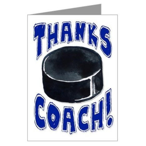 Hockey Thanks Coach